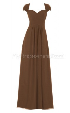 Custom Color Long Chiffon Bridesmaid Dress BSD317