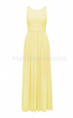 Custom Color Long Chiffon , Lace Bridesmaid Dress BSD392