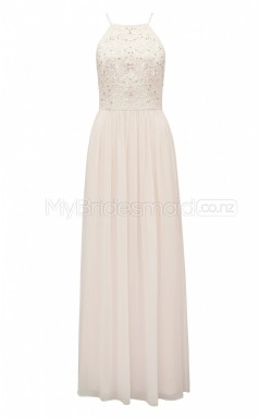Custom Color A Line Long Bridesmaid Dress BSD394
