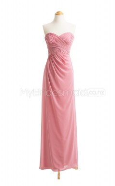 Custom Color Long Sweetheart Neck Bridesmaid Dresses BSD411