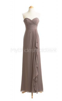 Custom Color A Line Long Bridesmaid Dress BSD414