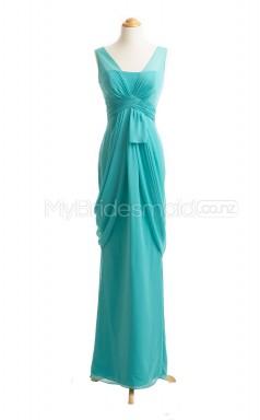Custom Color Chiffon Long Bridesmaid Dresses BSD418