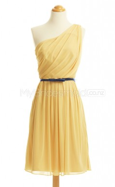 Custom Color Short One Shoulder Bridesmaid Dresses BSD426