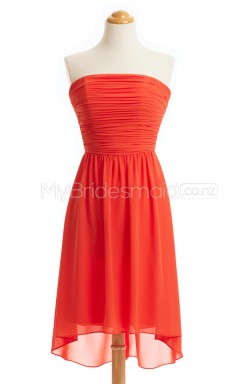 Custom Color Hi-Lo Chiffon Bridesmaid Dress BSD432