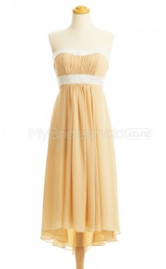 Custom Color Sweetheart Chiffon Short Bridesmaid Dress BSD435
