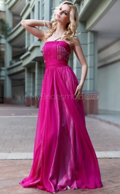 Strapless Mermaid Pink Wedding Guest Dress (GZNZ30593)