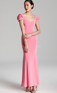 Watermelon Mermaid Scoop Knitwear Long Ball Dresses (NZJT06182)
