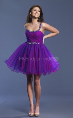 Organza Princess One Shoulder Short Regency Ball Dresses (NZJT06411)