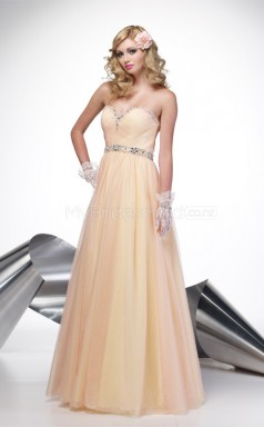 A-line Sweetheart Tulle Long Ball Dresses (NZJT06523)