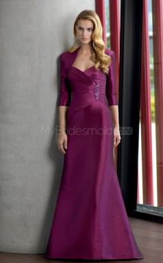 Taffeta A-line Sweetheart Floor-length Grape Ball Dresses (NZJT06665)