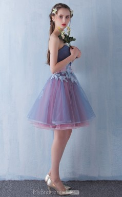 Modern Sweetheart Princess Short Tulle Ball Gowns NZTB06061