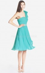 Pool Chiffon A-line One Shoulder Knee-length Bridesmaid Dresses (NZBD06077)