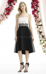 Formal Organza White A Line Hi-Lo Bridesmaid Dress BDNZ1626