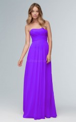 Teenage Sweetheart A Line Long Purple Chiffon Bridesmaid Dress BDNZ1641