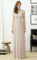 Classic Chiffon Sweetheart Long A Line Ivory Bridesmaid Dress BDNZ1645