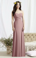 Glamorous Sweetheart A Line Long Nude Chiffon Bridesmaid Dress BDNZ1668