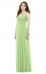 Chic Long Chiffon Sweetheart Sage A Line Bridesmaid Dress BDNZ1675