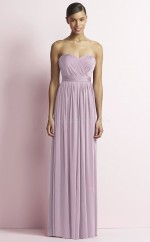 Chic Sweetheart A Line Long Lilac Satin Chiffon Bridesmaid Dress BDNZ1686