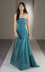 Taffeta Ball Gown Strapless Long Bridesmaid Dresses (NZBD06171)