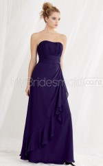 Regency Chiffon A-line Sweetheart Long Bridesmaid Dresses (NZBD06189)