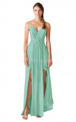 Straps Long MIdium Aquamarine Bridesmaid Dress NZBD1901