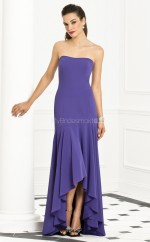 Regency Satin Chiffon Mermaid Strapless Floor-length Vintage Bridesmaid Dresses (NZBD06259)