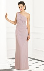 Lilac Chiffon Sheath One Shoulder Long Bridesmaid Dresses (NZBD06276)