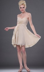 Ivory Chiffon , Lace A-line Sweetheart Neckline Short Vintage Bridesmaid Dresses (NZBD06410)