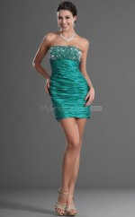 Jade Taffeta Sheath Strapless Short Bridesmaid Dresses (NZBD06429)