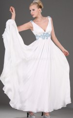 White Chiffon A-line One Shoulder Floor-length Vintage Bridesmaid Dresses (NZBD06470)