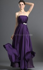 Regency Stain Chiffon A-line Strapless Long Bridesmaid Dresses (NZBD06533)