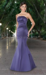 Regency Satin Mermaid Strapless Long Bridesmaid Dresses (NZBD06562)