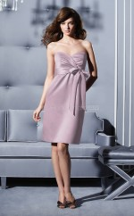 Lavender Chiffon A-line Sweetheart Knee-length Bridesmaid Dress For Beach(NZBD06663)