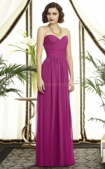 Fuchsia Chiffon A-line Sweetheart Long Bridesmaid Dresses (NZBD06740)