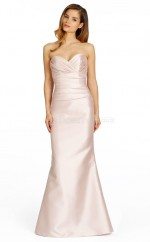 Blushing Pink Satin Mermaid Sweetheart Long Bridesmaid Dresses (NZBD06753)