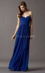 Royal Blue Chiffon A-line Sweetheart Long Bridesmaid Dresses (NZBD06761)