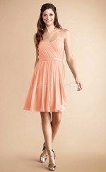 Pearl Pink Chiffon Sweetheart Long Bridesmaid Dresses (NZBD06777)