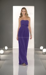 Regency Chiffon Sheath Strapless Long Bridesmaid Dresses (NZBD06827)