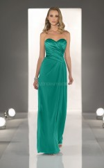 Jade Chiffon , Stretch Satin Sheath Sweetheart Floor-length Vintage Bridesmaid Dresses (NZBD06828)
