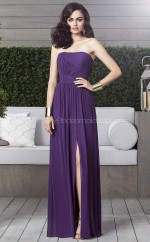 Regency Chiffon A-line Strapless Long Bridesmaid Dresses (NZBD06870)