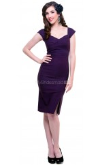 Regency Knitwear Knee Length Vintage Bridesmaid Dresses (NZBD06947)