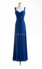 Fashion Royal Blue A Line Sweetheart Chiffon Long Bridesmaid Dresses (BSD071)