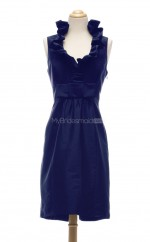Amazing Royal Blue Column/Sheath Halter Taffeta Bridesmaid Dresses (BSD110)