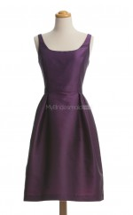 Hot Grape A Line Square Taffeta Bridesmaid Dresses (BSD118)