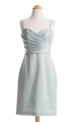 Fabulous Ivory A Line Straps Satin Bridesmaid Dresses (BSD121)