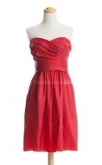 New Arrive Red A Line Sweetheart Taffeta Bridesmaid Dresses (BSD124)
