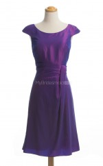 Attractive Regency A Line Scoop Taffeta Bridesmaid Dresses (BSD136)