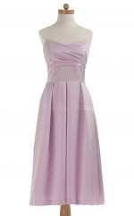Best Selling Lilac A Line Sweetheart Satin Bridesmaid Dresses (BSD140)