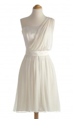 Discount Ivory A Line One Shoulder Chiffon Bridesmaid Dresses (BSD142)