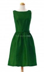 Affordable Dark Green A Line Bateau Taffeta Bridesmaid Dresses (BSD155)
